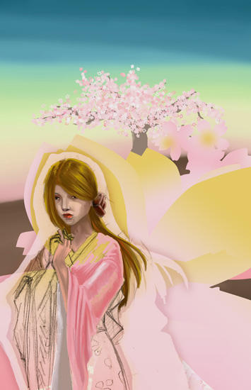 cherry blossom girl by emi-chan