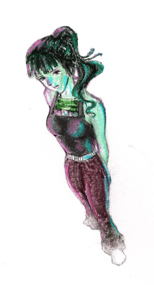 me girl green by emi-chan
