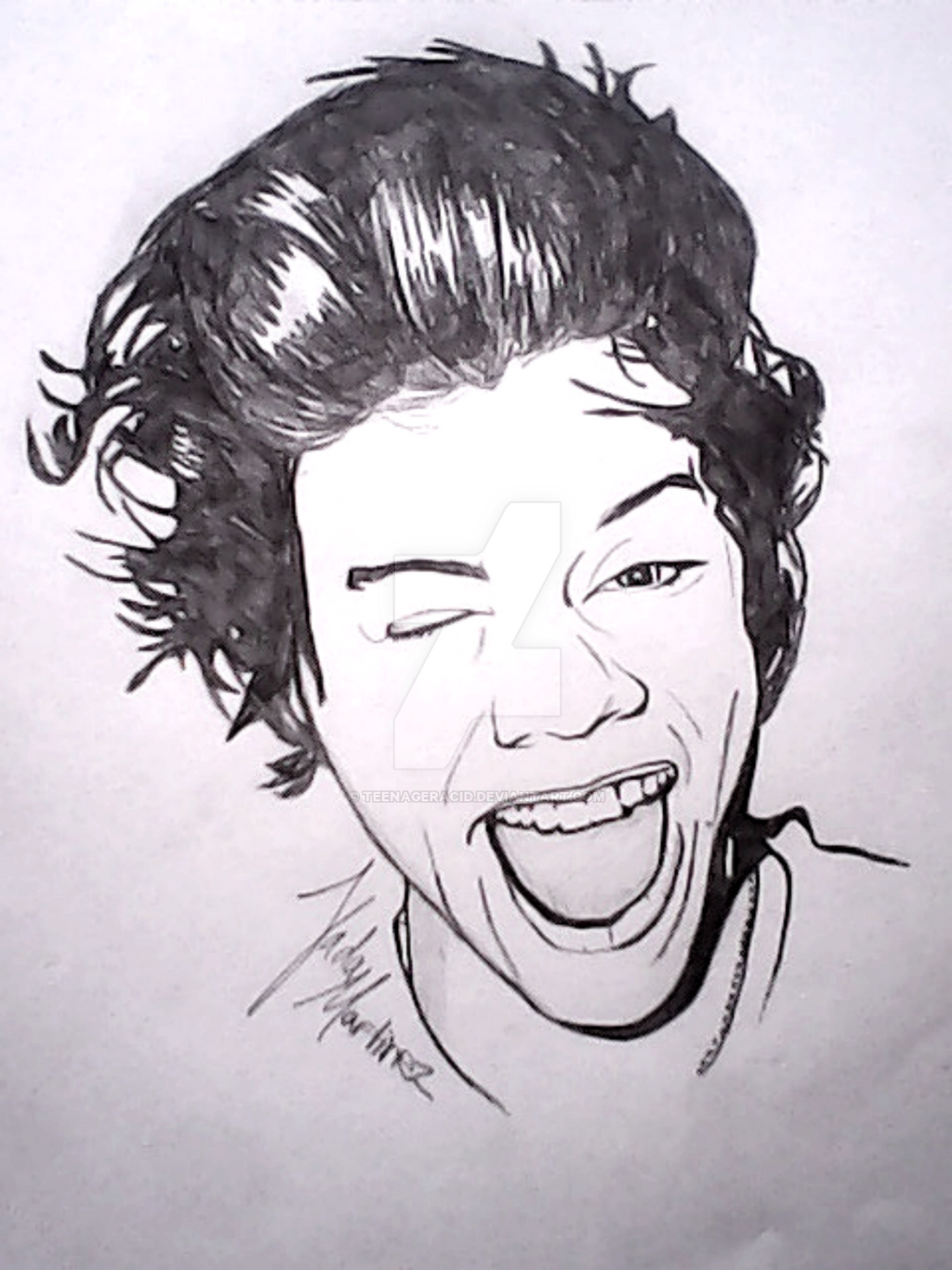 Harry Styles-drawing by TeenagerAcid