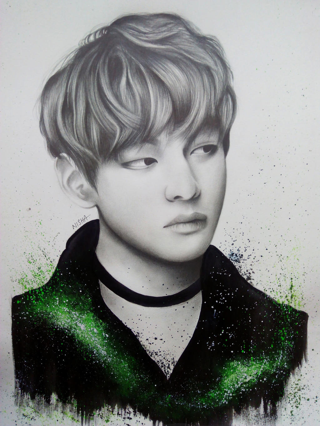 how to draw taehyung of bts