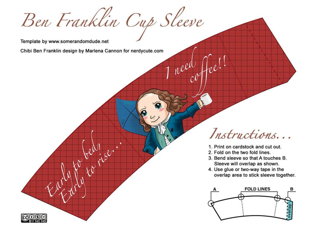 Chibi Ben Franklin Cup Sleeve by MwellretMiko
