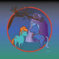 Fushigi Yuugi Ponies - Tasuki and Chichiri by MwellretMiko