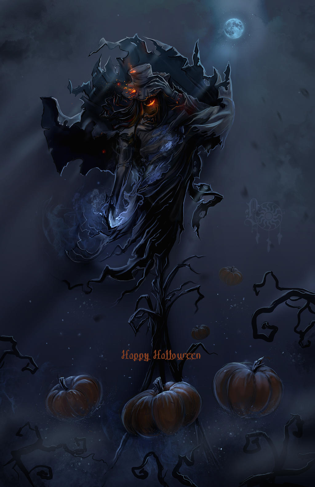 Halloween scarecrow by LadyOwl