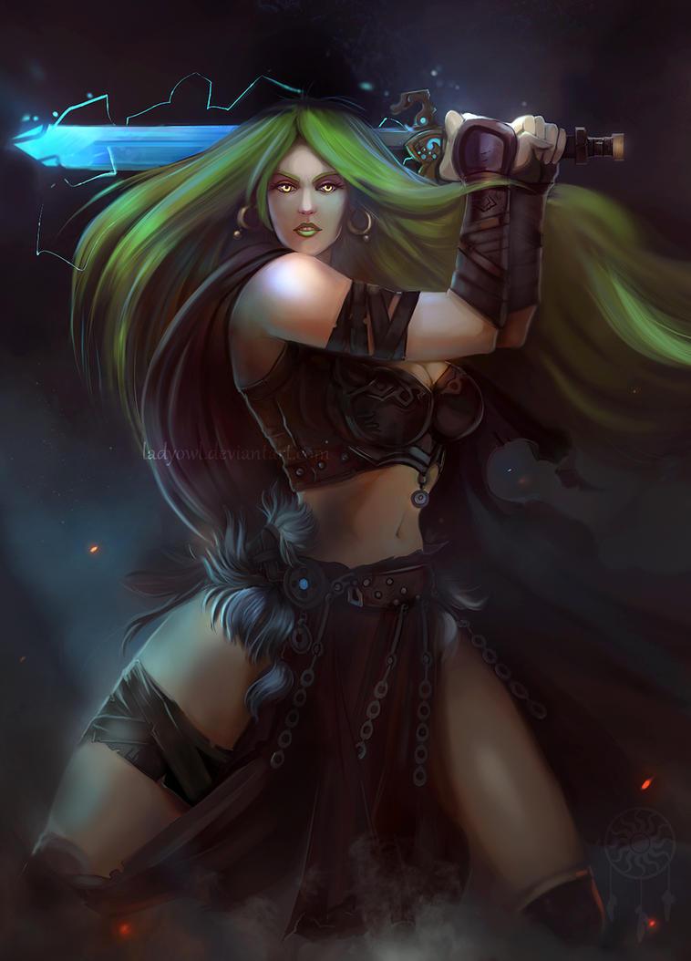GreenSonja by LadyOwl