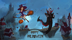 Vampire Halloween by BettyElgyn