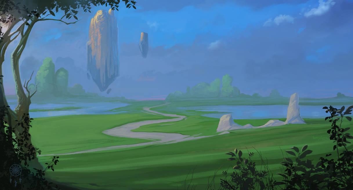 Green Landscape by BettyElgyn