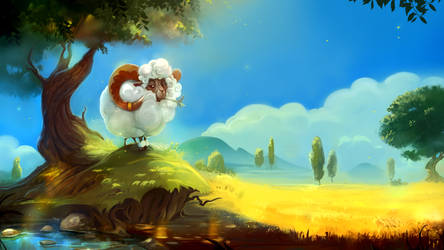 SunnySheep by BettyElgyn