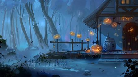 Halloween2019_Woods Ghosts