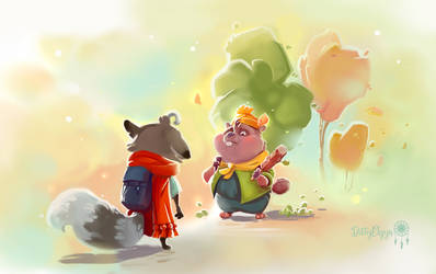 Illustrations for kidsbook - beaver Benjie