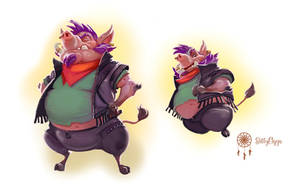 Illustrations for the kidsbook - the Hog