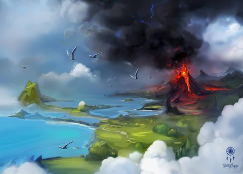 Volcano-background