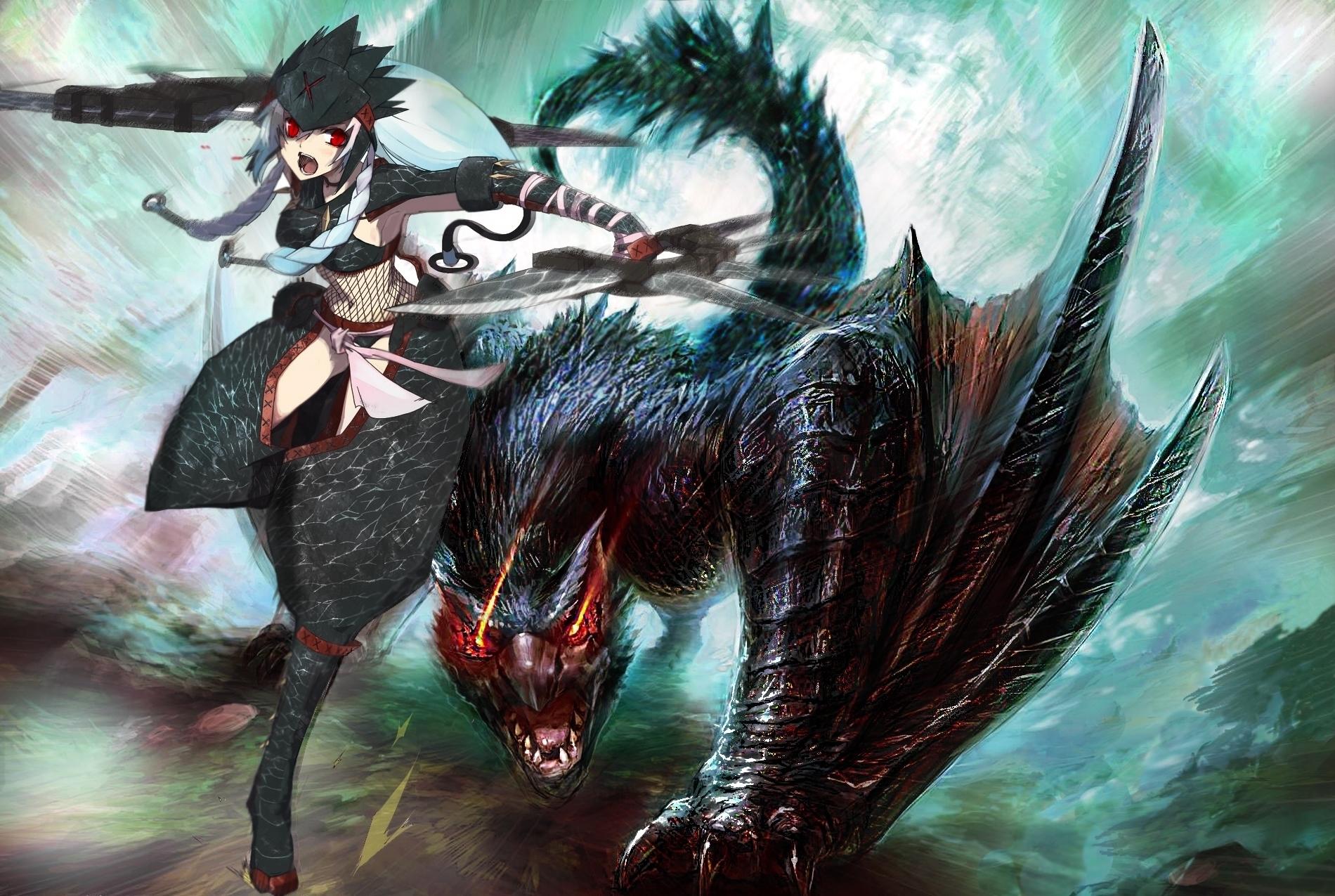 wallpaper monster hunter nargacuga v2 by diange666 on