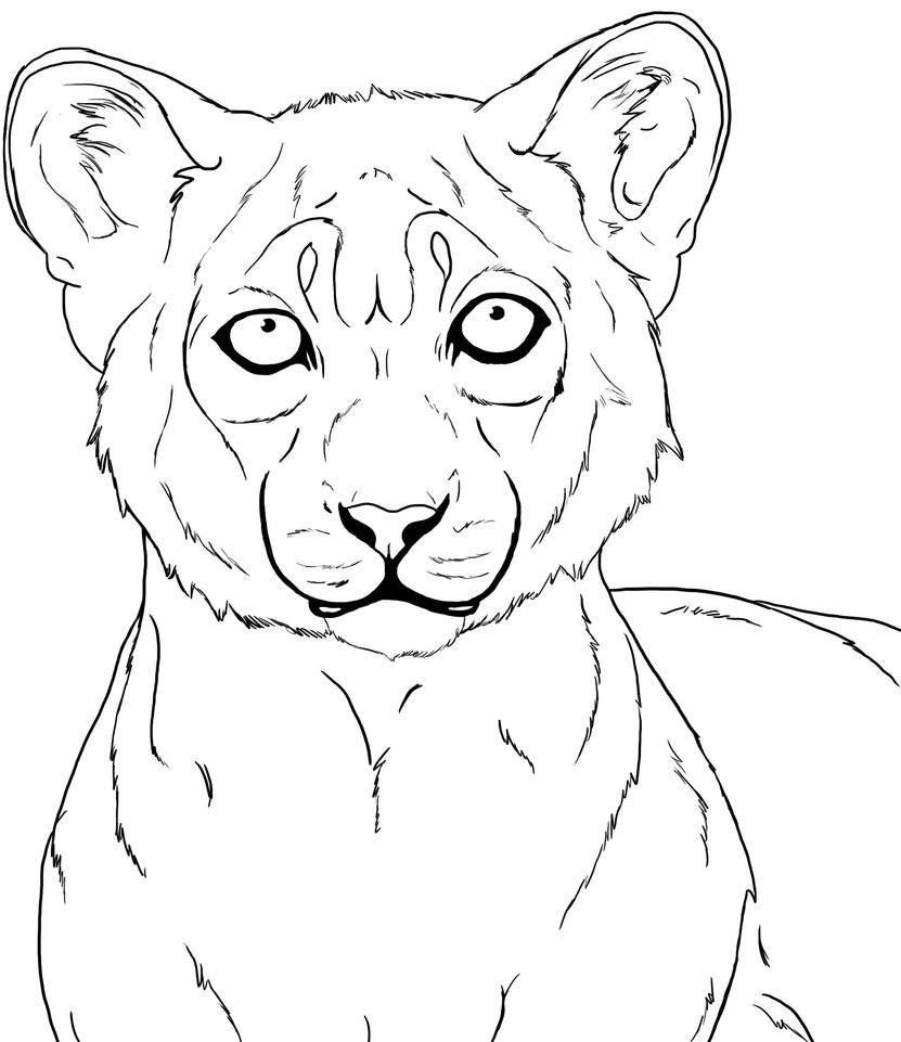 Line Art Lion : The lion lineart by voodoofox on deviantart