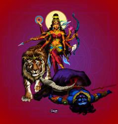 Durga Triumphant by mistersid