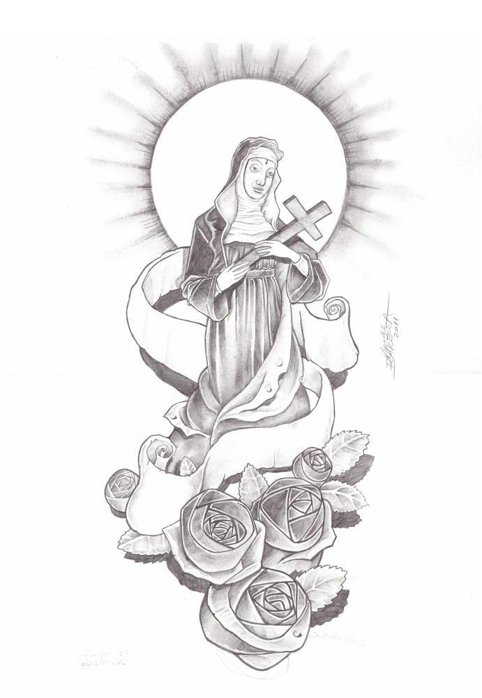 Santa Rita De Cassia Tattoo By Mateuzord On Deviantart