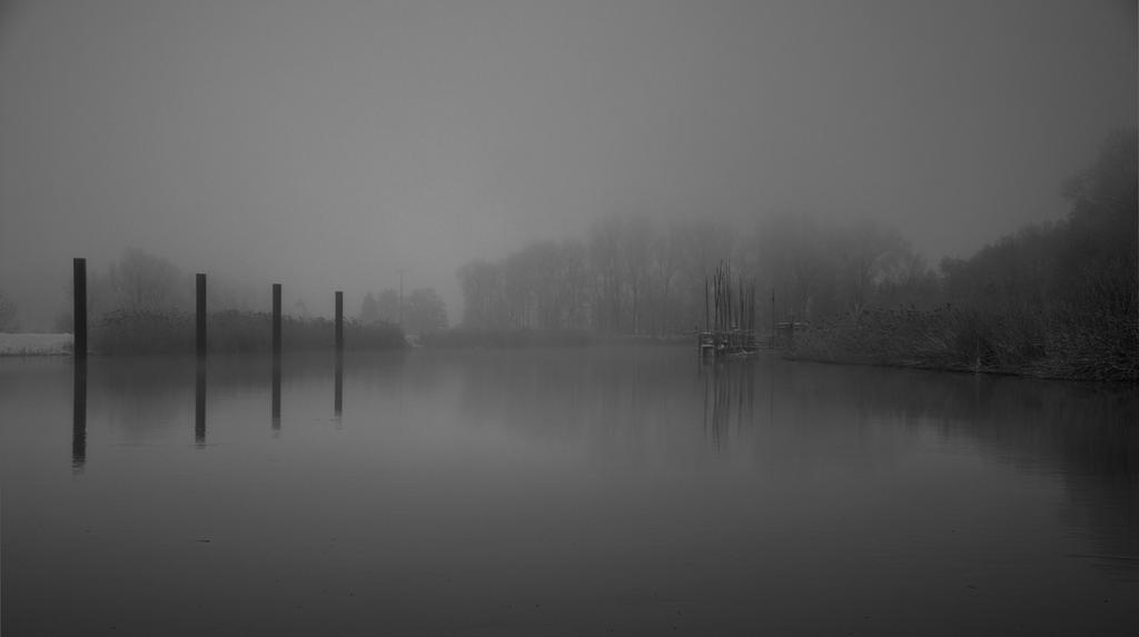 Fog over the river by Bull04