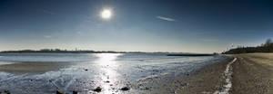 Pano Hamburg Sun over beach