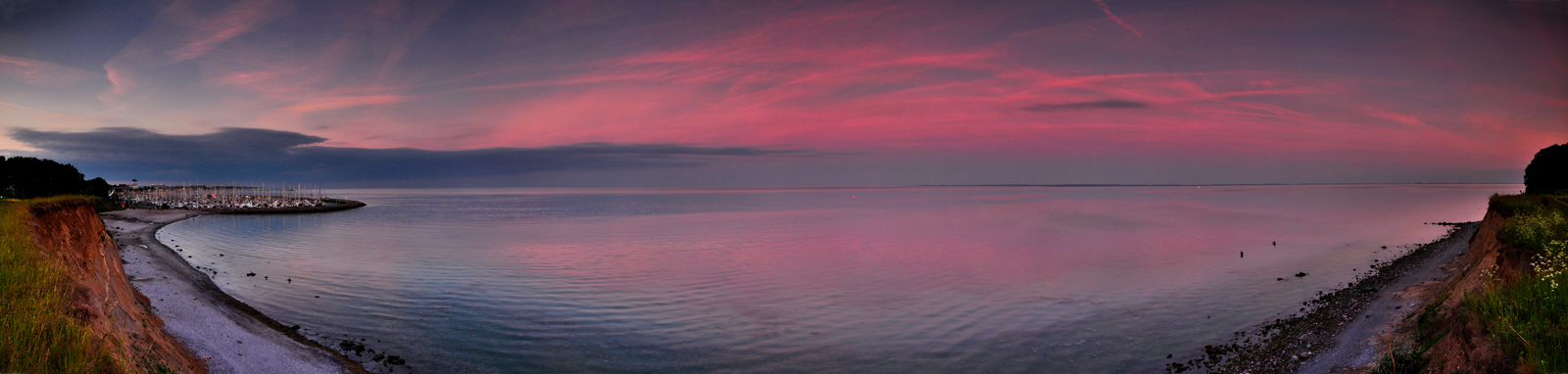 Big Baltic Sea sunset Panorama by Bull04