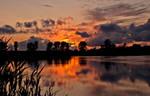 Sunset golden moment