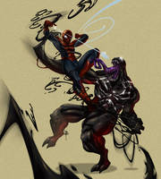 Spidey vs Venom by BrianFajardo