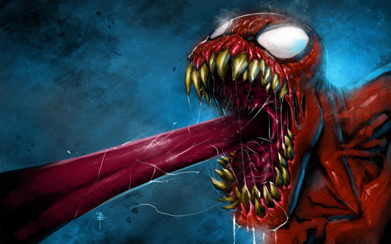 This ain't right..spidey-venom by BrianFajardo