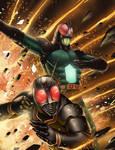 Masked Rider black and RX Rider