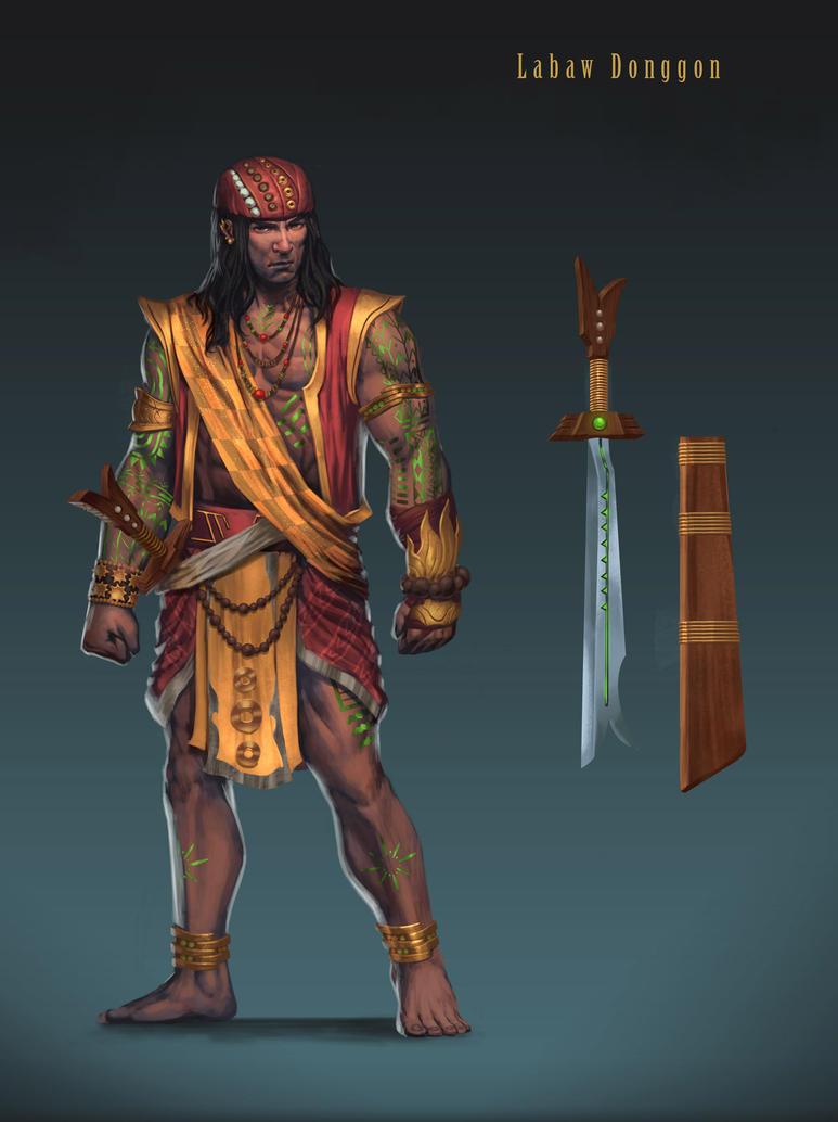 Labaw Donggon character design by BrianFajardo