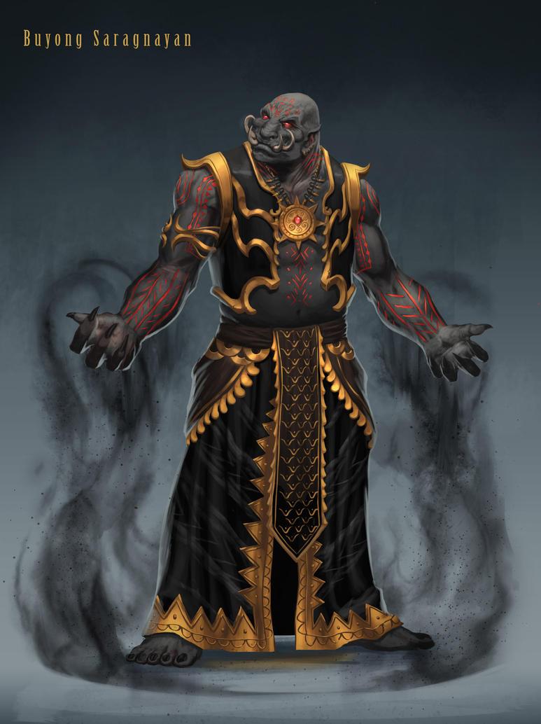 Saragnayan  Deity of Darkness by BrianFajardo