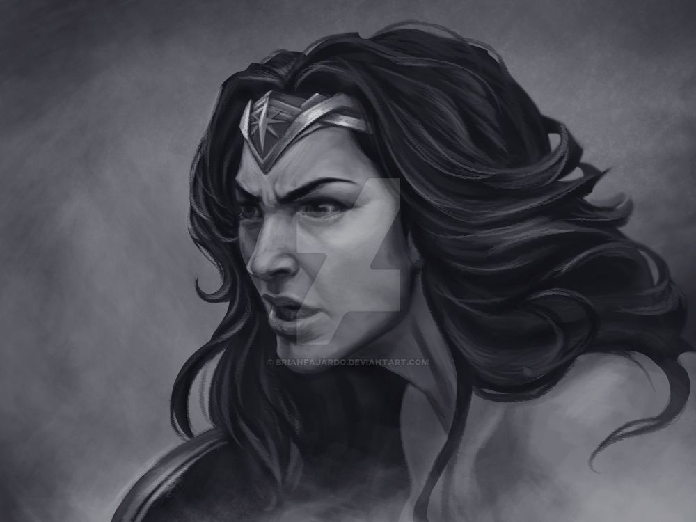 WonderWoman portrait by BrianFajardo