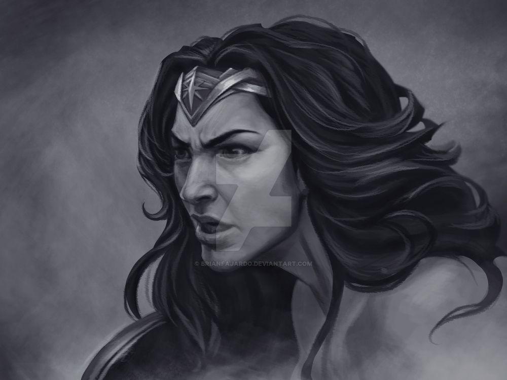WonderWoman portrait by BrianFajardo