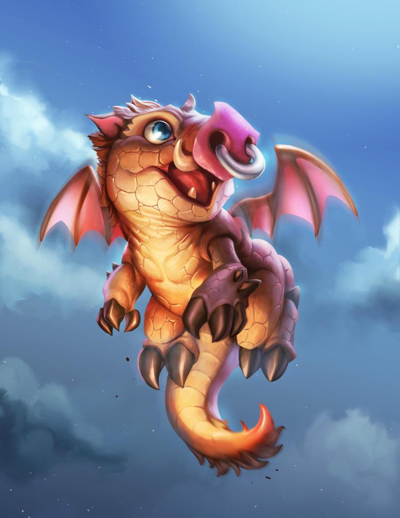 Chibi Boar Dragon by BrianFajardo