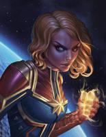 Captain Marvel Fan art by BrianFajardo