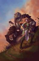 La Capitana with the Orc by BrianFajardo