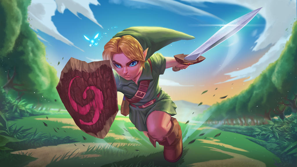 Young Link fanart Legend of Zelda by BrianFajardo