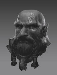 Dwarf portrait sketch by BrianFajardo