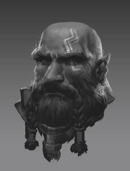 Dwarf portrait sketch