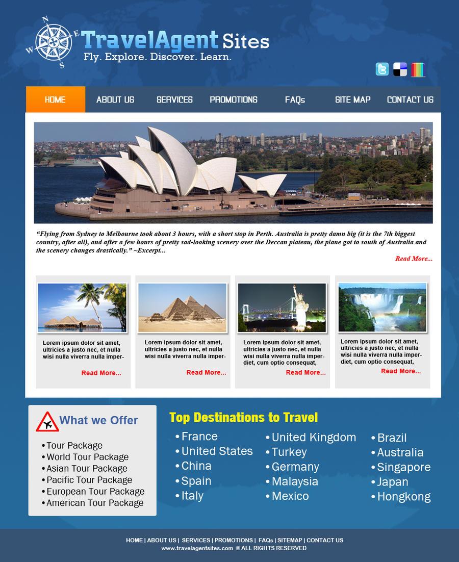 Travel Website Design By Myedsjosh On Deviantart