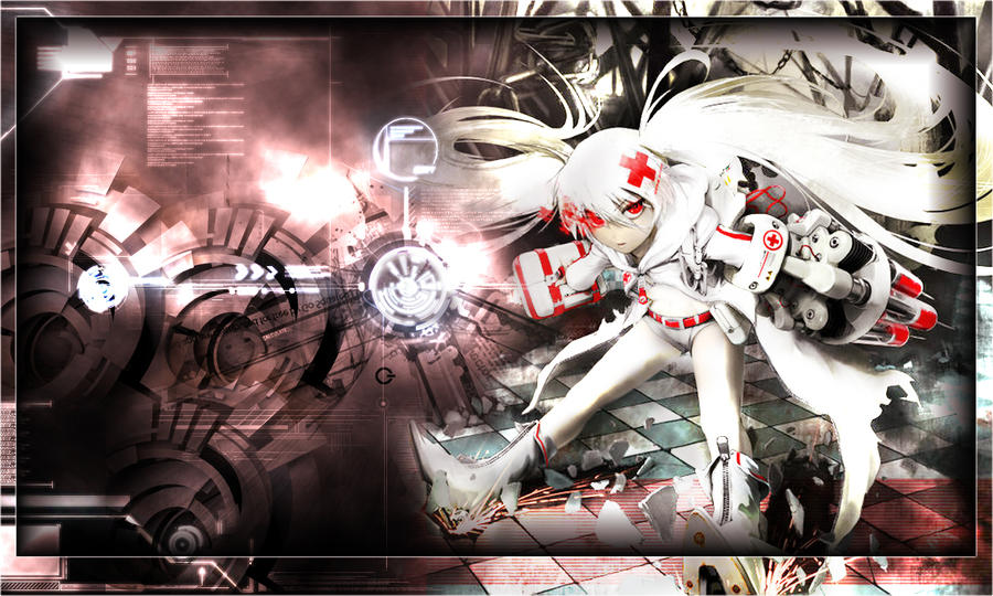white rock shooter wallpaper by  venomspreadout on deviantart