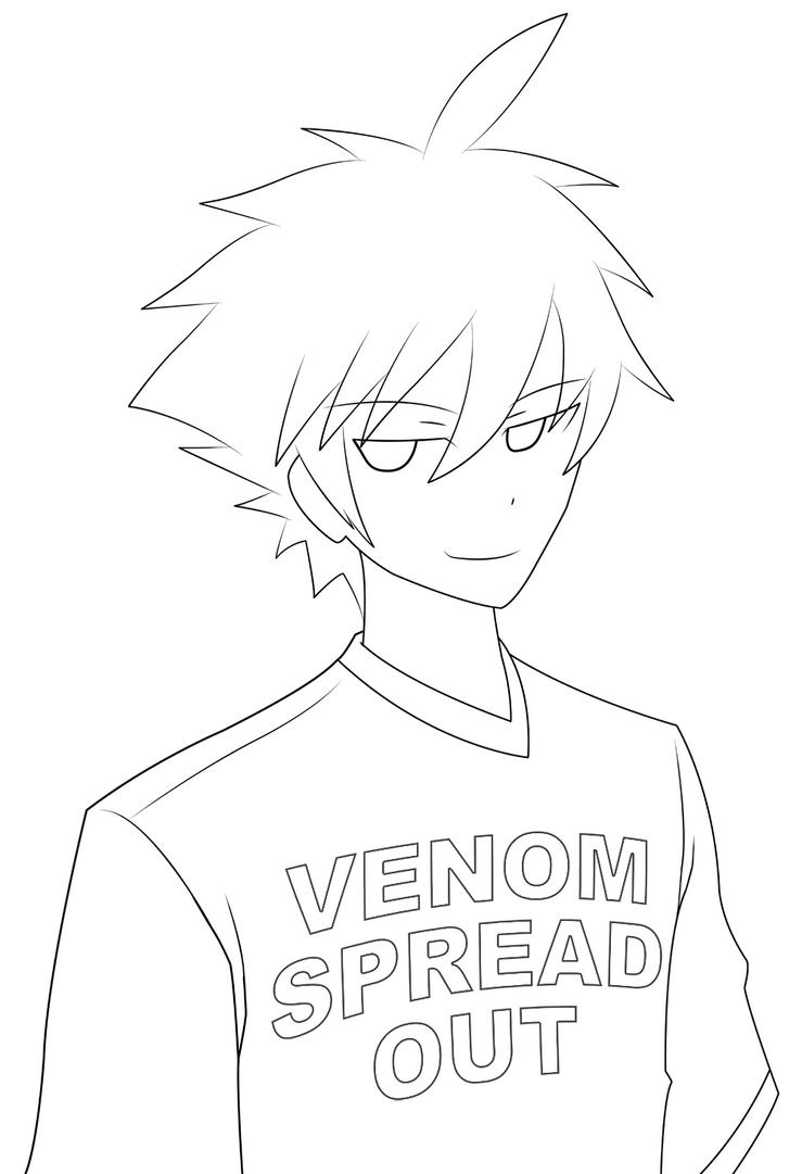 Line Drawing Boy : Anime boy lineart by venomspreadout on deviantart