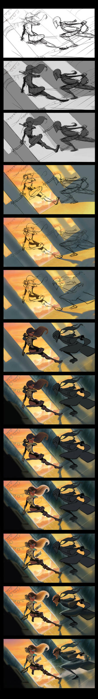 They fight step by step by DanielAraya