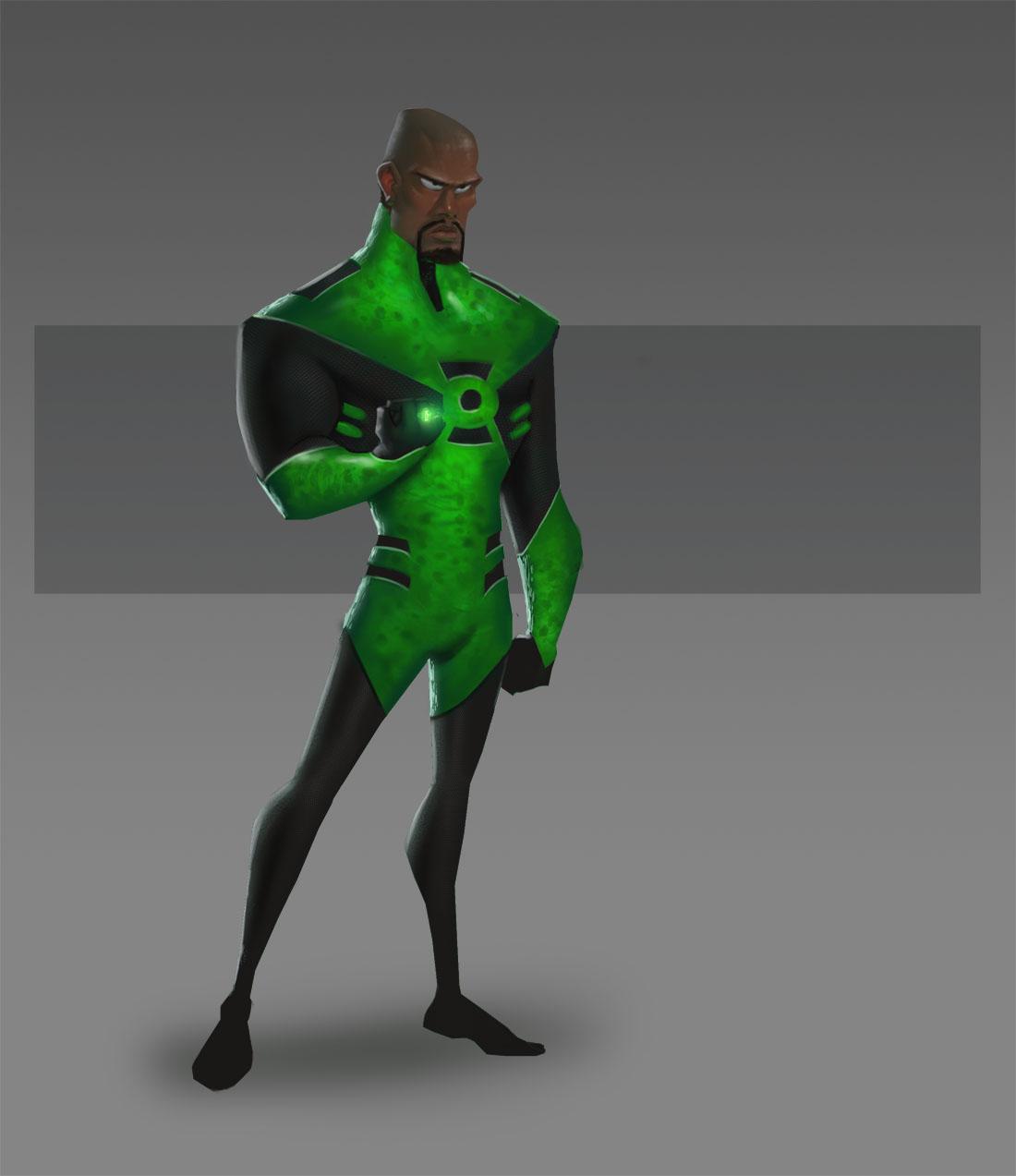 JLA CG Concepts - Green Lant by DanielAraya