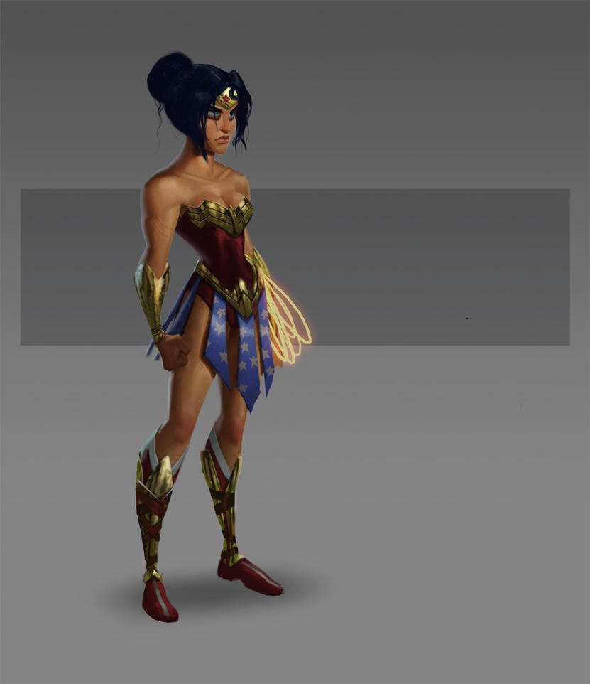 JLA CG Concepts - Wonder Woman by DanielAraya