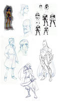 JLA CG Concepts - Roughs by DanielAraya