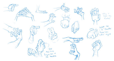 Drawin some hands