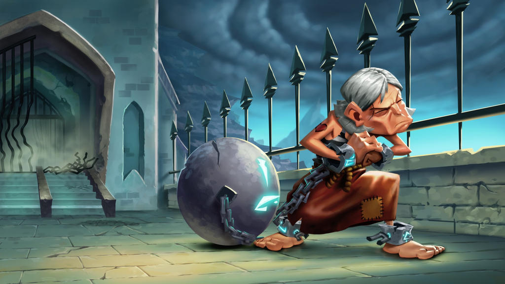 Dungeon Defenders Prisoner Illustration by DanielAraya
