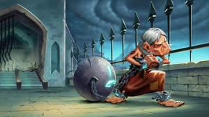 Dungeon Defenders Prisoner Illustration