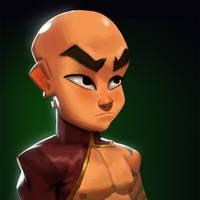 Dungeon Defenders Monk Portrait! by DanielAraya