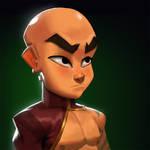 Dungeon Defenders Monk Portrait!