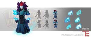 Dungeon Defenders Spirit Warrior Concept Art