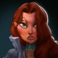 Dungeon Defenders Countess Portrait by DanielAraya